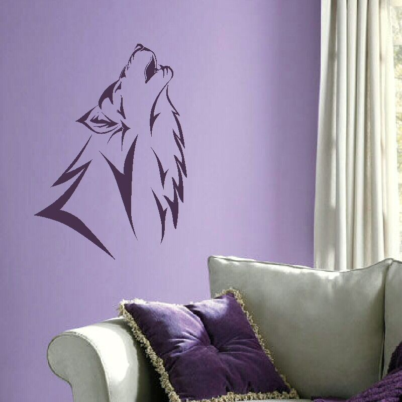 LARGE HOWLING WOLF Vinyl wall sticker decal graphic transfer mural car