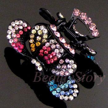 Item  Austrian rhinestone crystal fashion hair claw clip