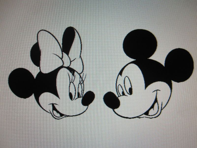 MICKEY & MINNIE MOUSE decal sticker in 21 colors