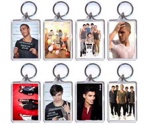 THE WANTED BOY BAND MAX GEORGE NATHAN SYKES KEYRING BAG TAG GIFT